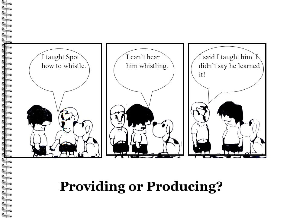 Providing or Producing