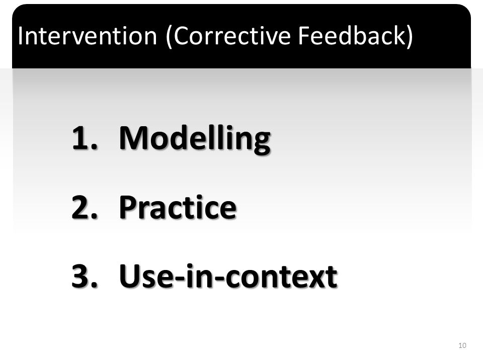 Intervention (Corrective Feedback)