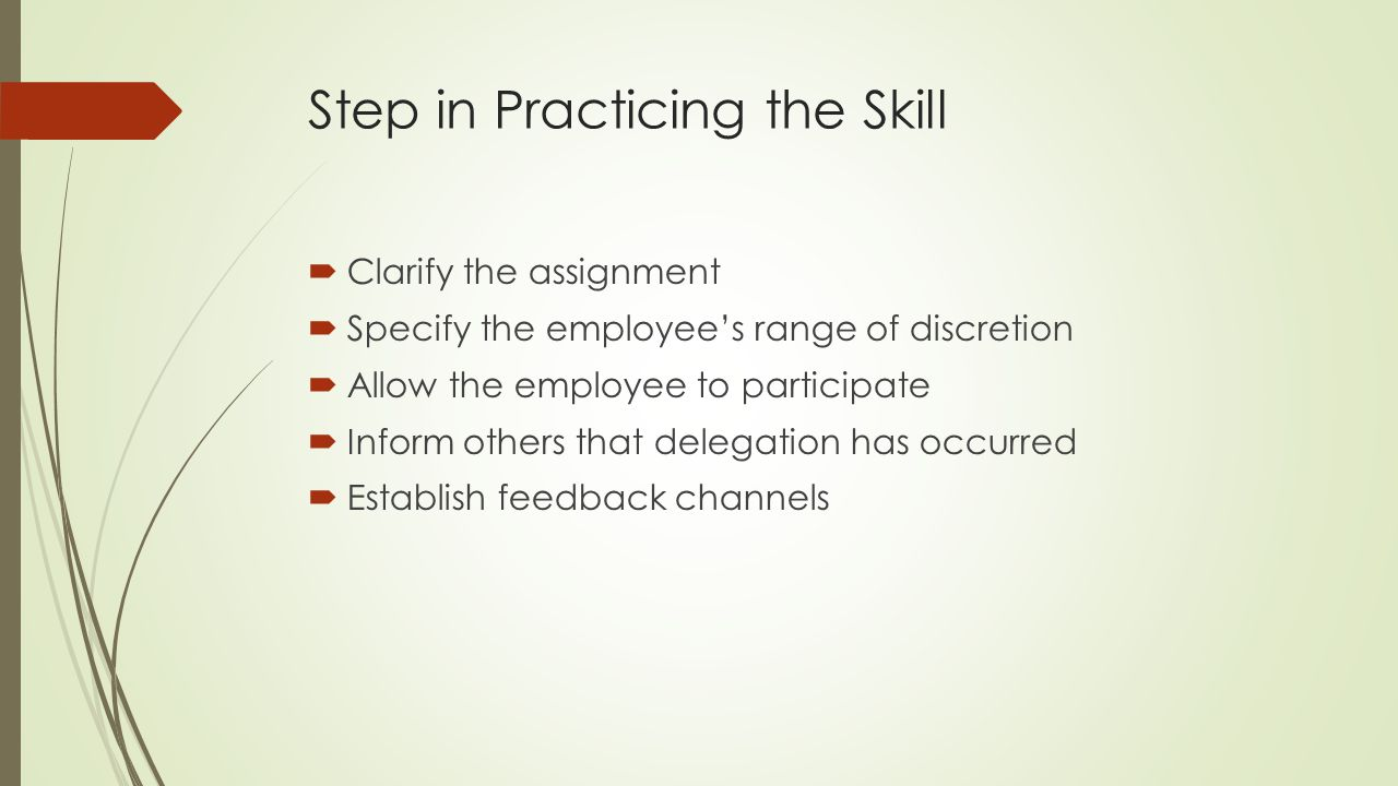 Step in Practicing the Skill
