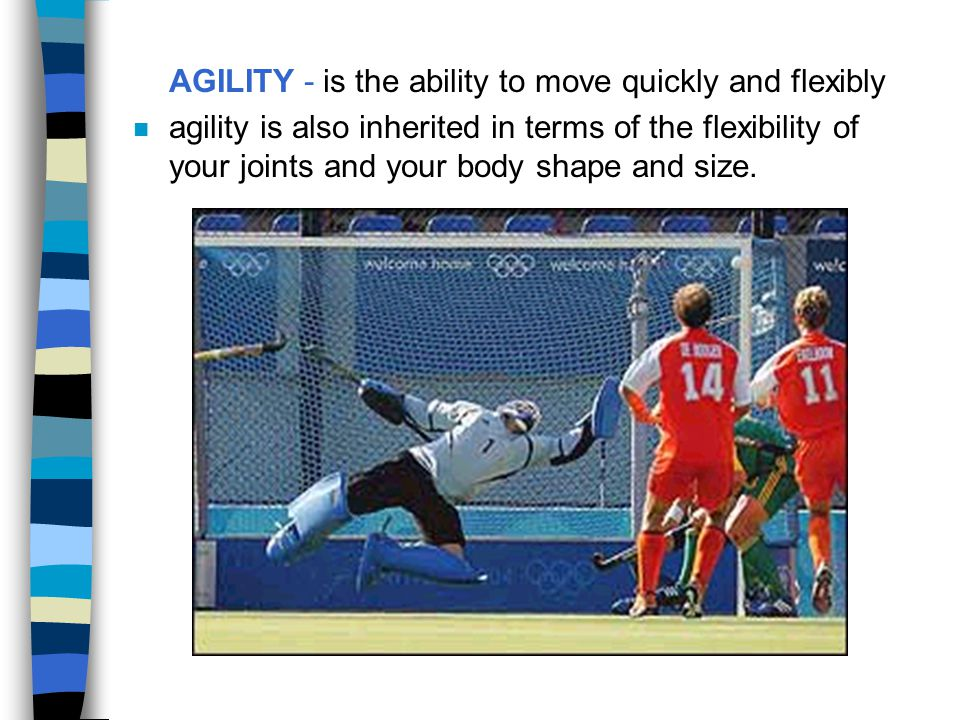 AGILITY - is the ability to move quickly and flexibly