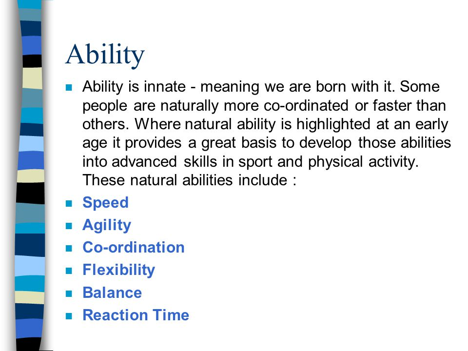 Innate ability legal definition of innate ability
