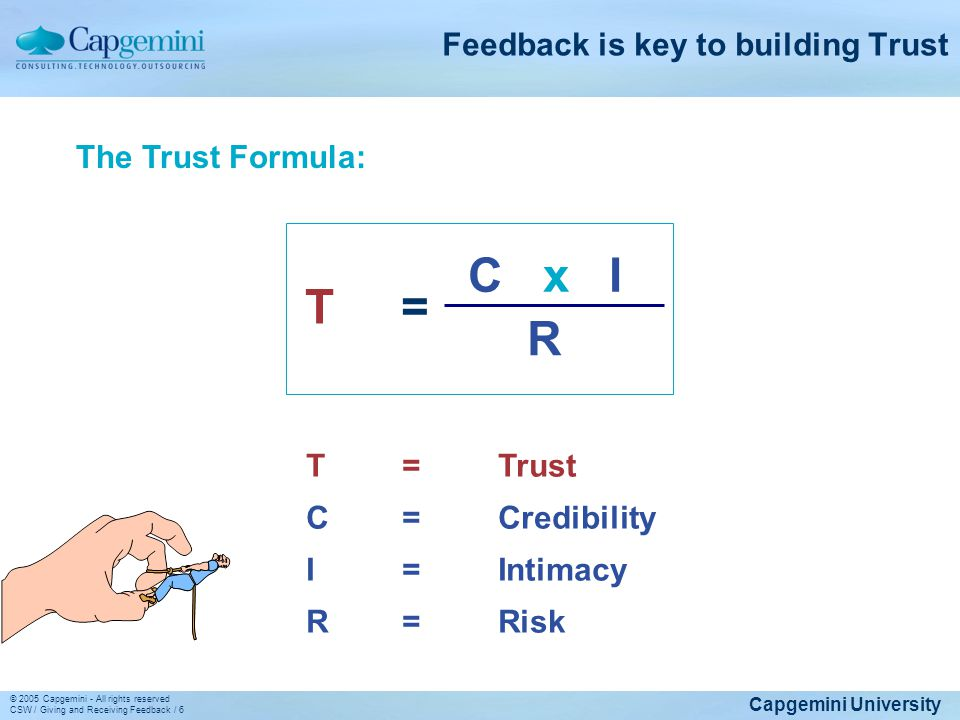 Feedback is key to building Trust