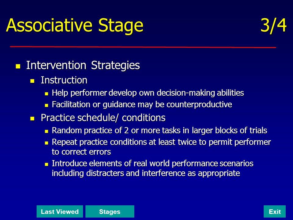 Associative Stage 3/4 Intervention Strategies Instruction