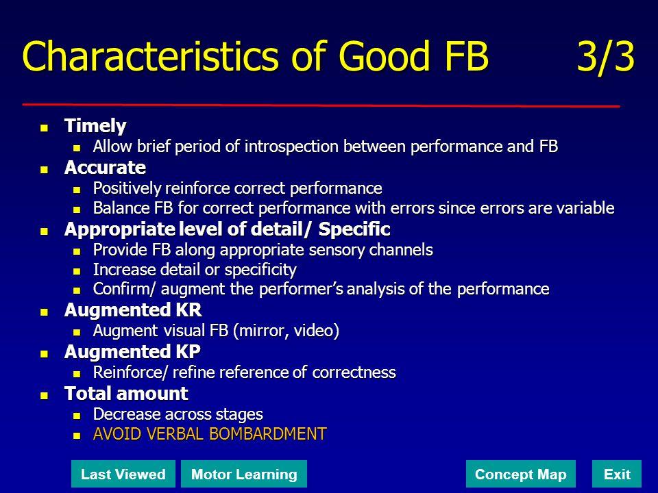 Characteristics of Good FB 3/3