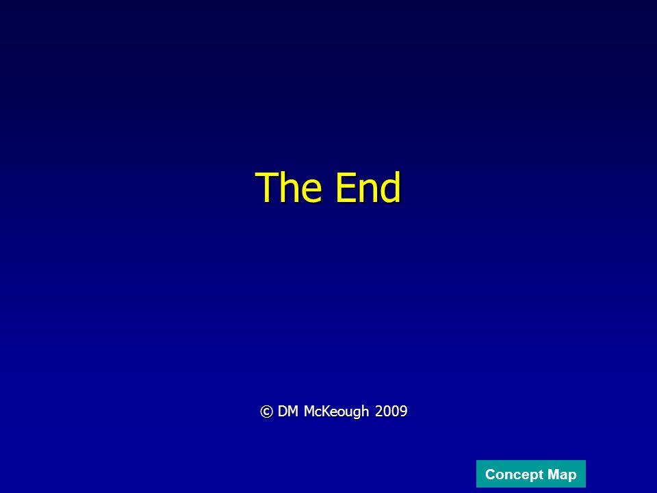The End © DM McKeough 2009 Concept Map