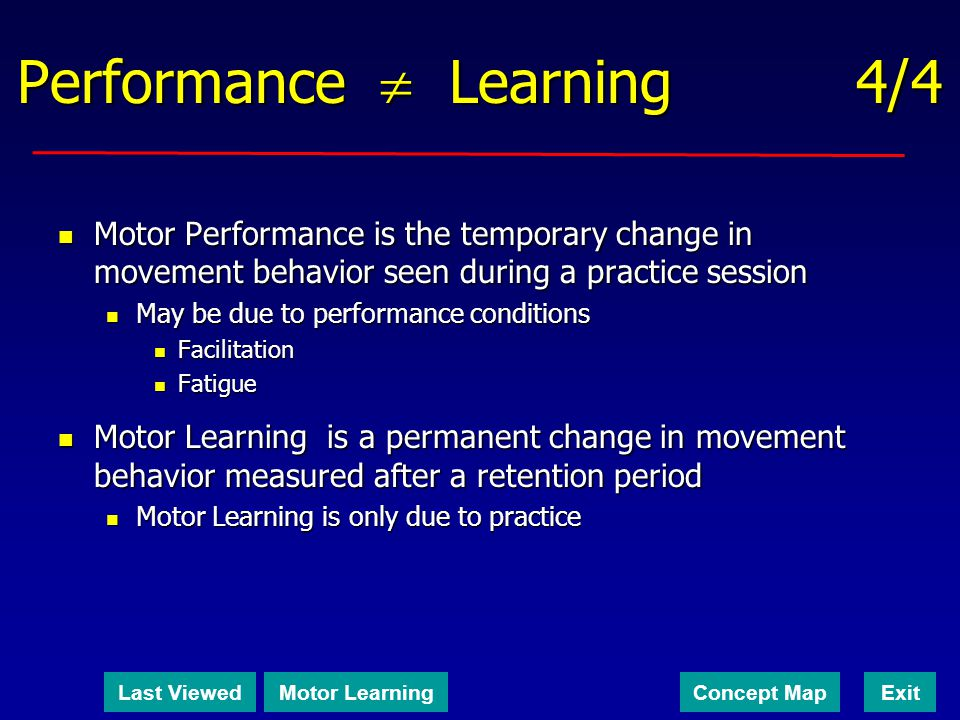 Performance  Learning 4/4