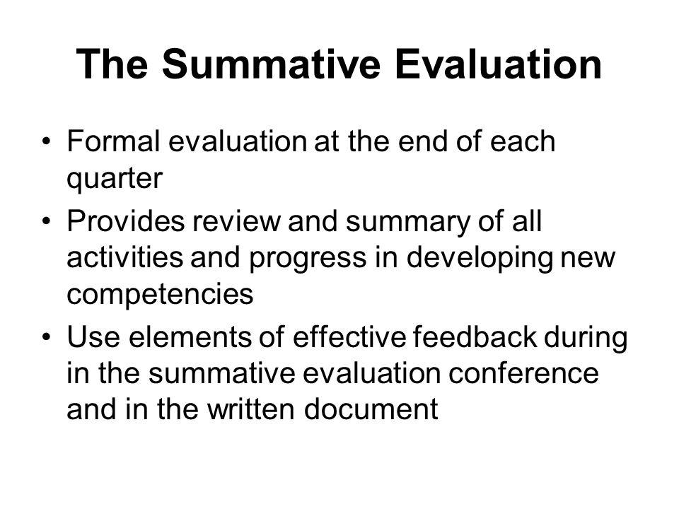 The Summative Evaluation