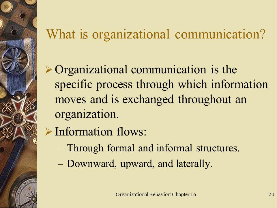 What is organizational communication