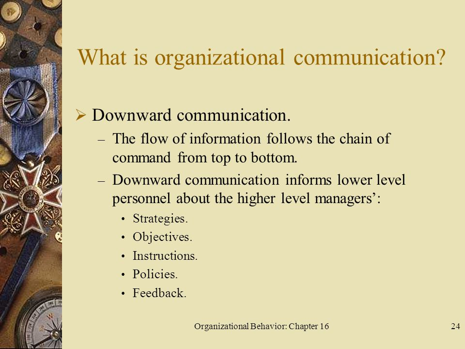 What is organizational communication