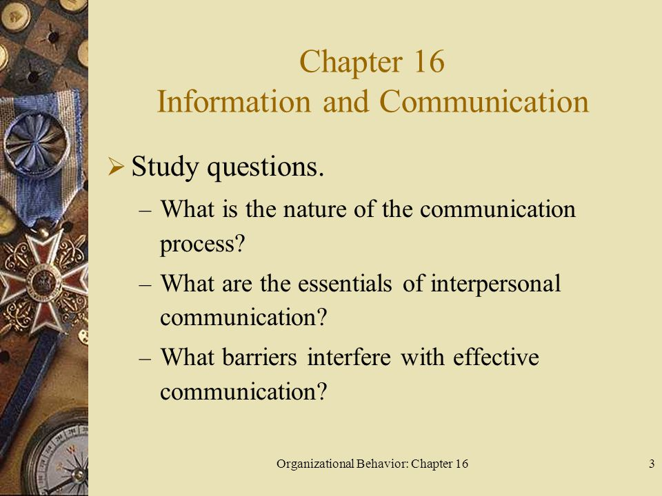 Chapter 16 Information and Communication