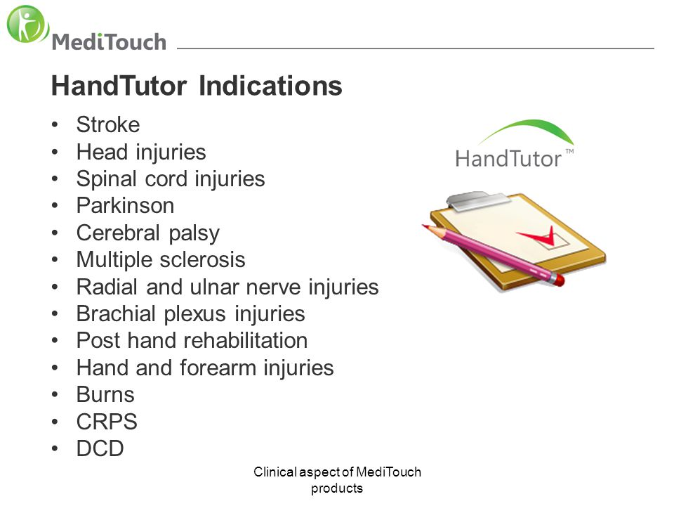 Clinical aspect of MediTouch products