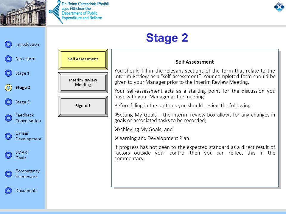 Stage 2 Self Assessment. Self Assessment.