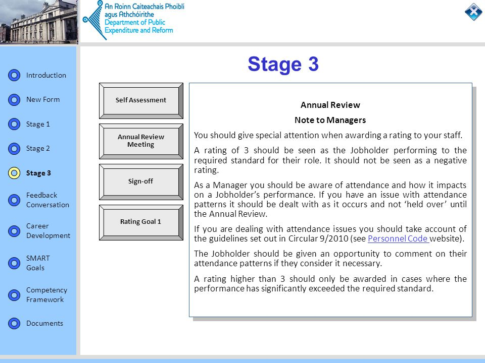 Stage 3 Annual Review Note to Managers
