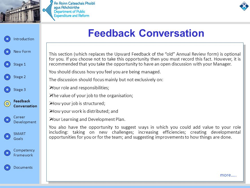 Feedback Conversation