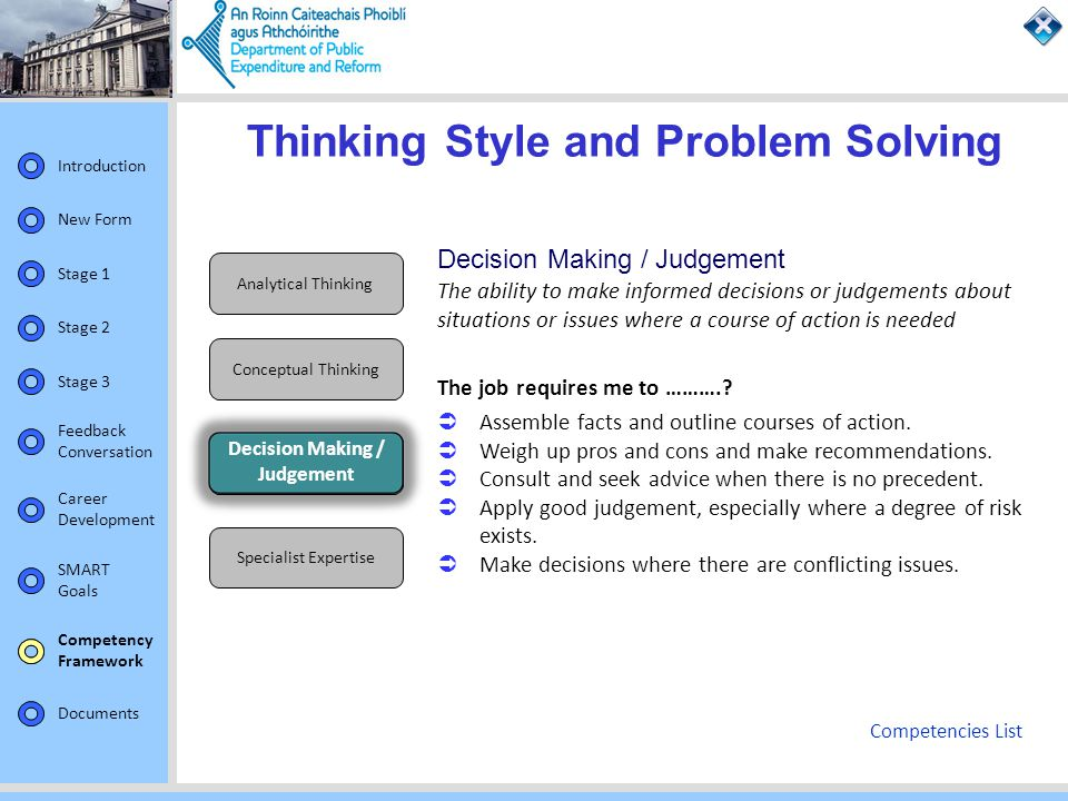 analytical thinking and problem solving examples
