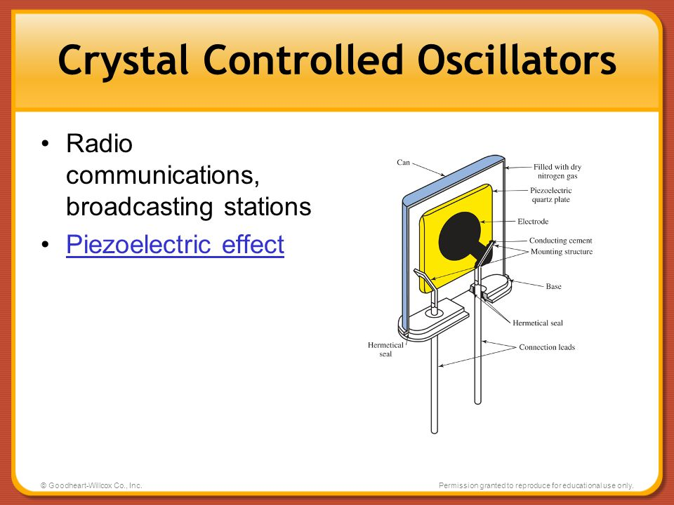 Crystal Controlled Oscillators