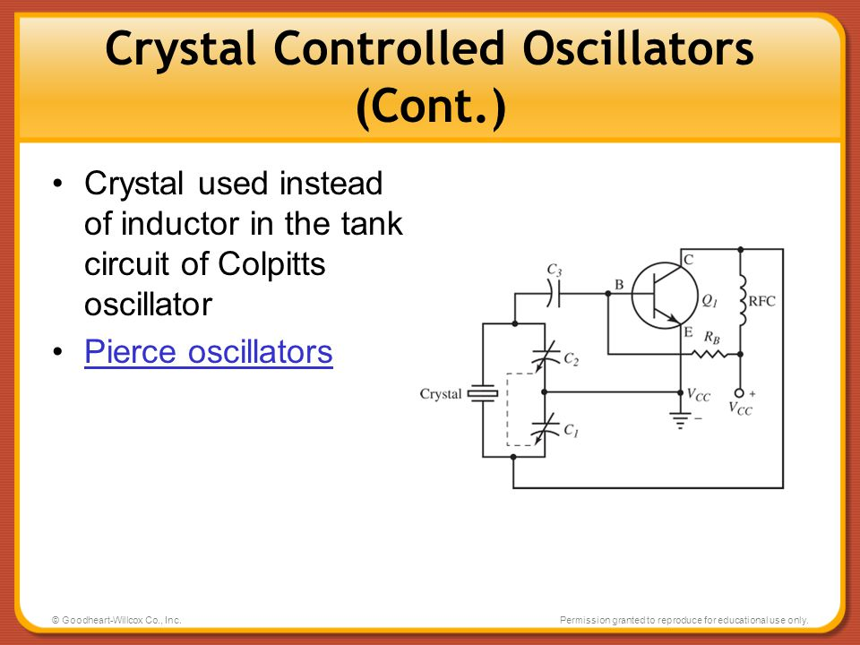 Crystal Controlled Oscillators (Cont.)