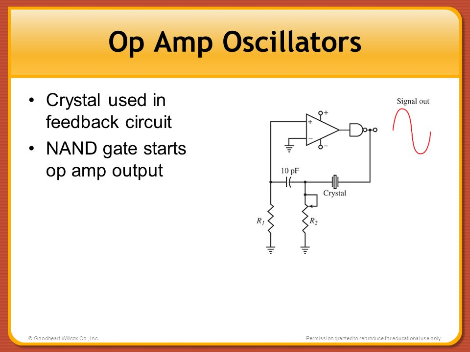 Op Amp Oscillators Crystal used in feedback circuit