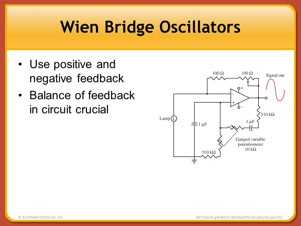 Wien Bridge Oscillators