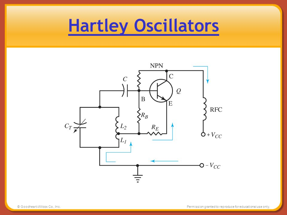 Hartley Oscillators © Goodheart-Willcox Co., Inc.
