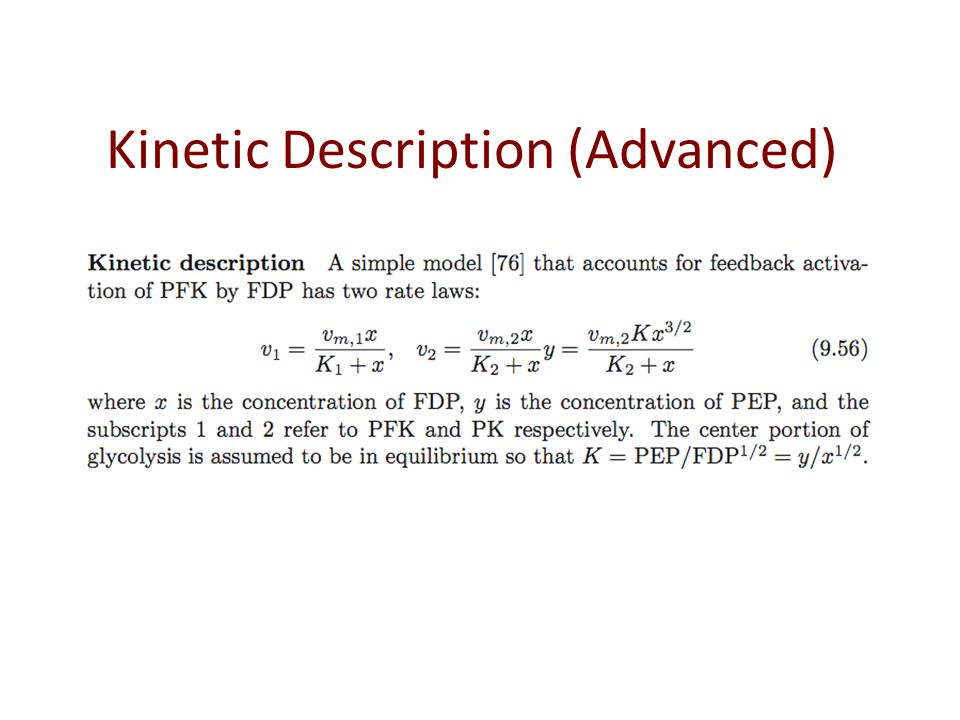 Kinetic Description (Advanced)