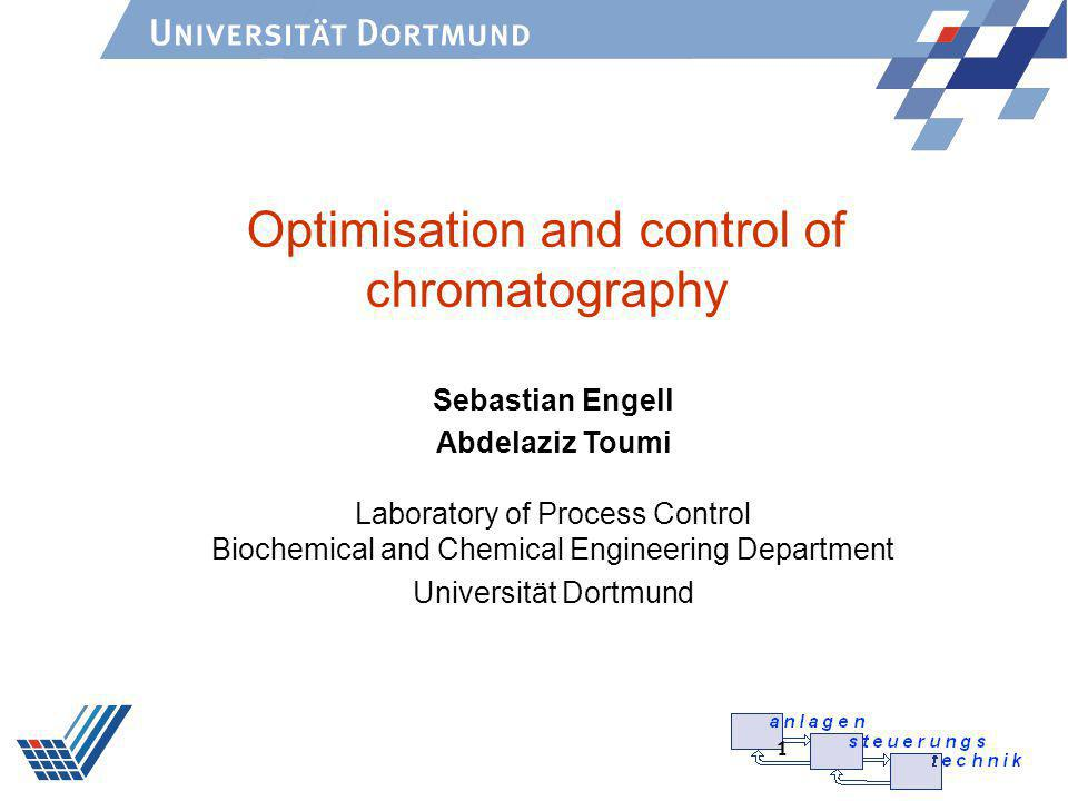 Optimisation and control of chromatography