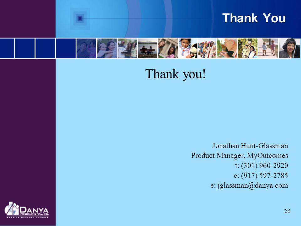 Thank you! Thank You Jonathan Hunt-Glassman