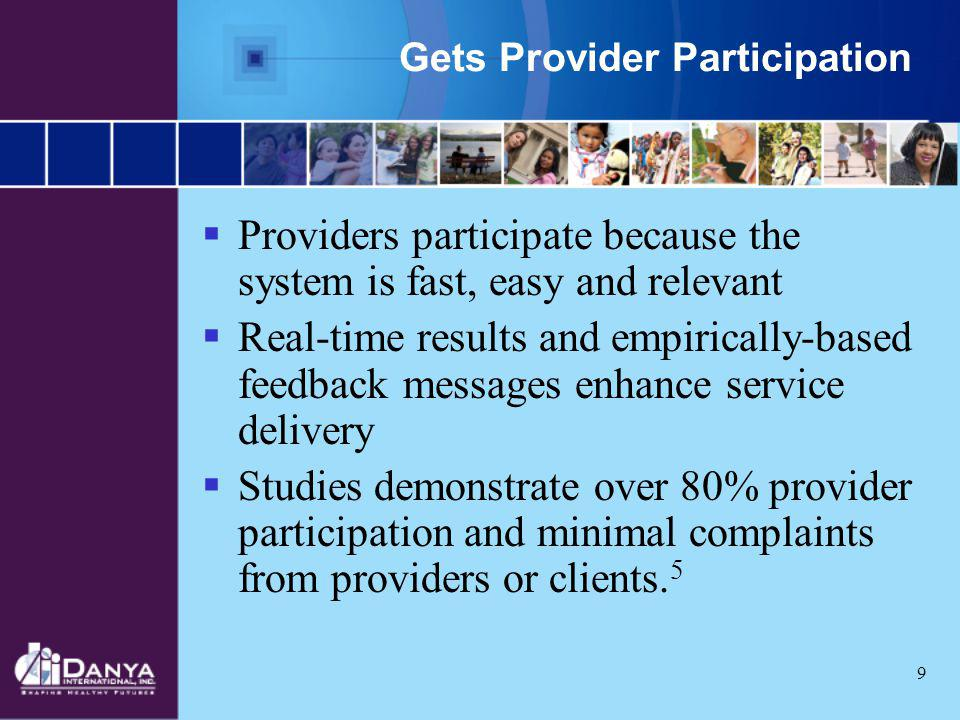 Gets Provider Participation