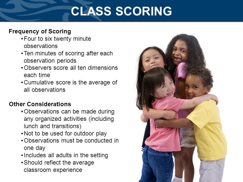 CLASS SCORING Frequency of Scoring