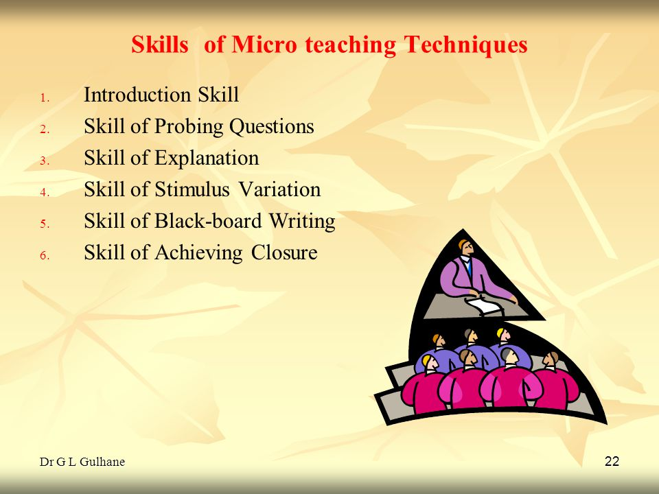 Skills of Micro teaching Techniques