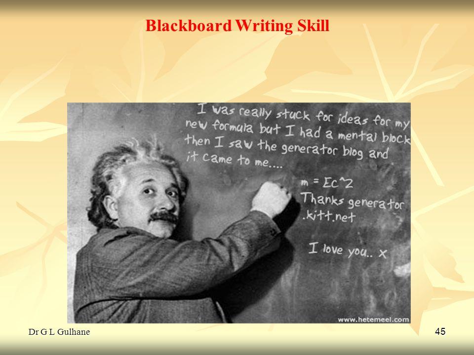 Blackboard Writing Skill