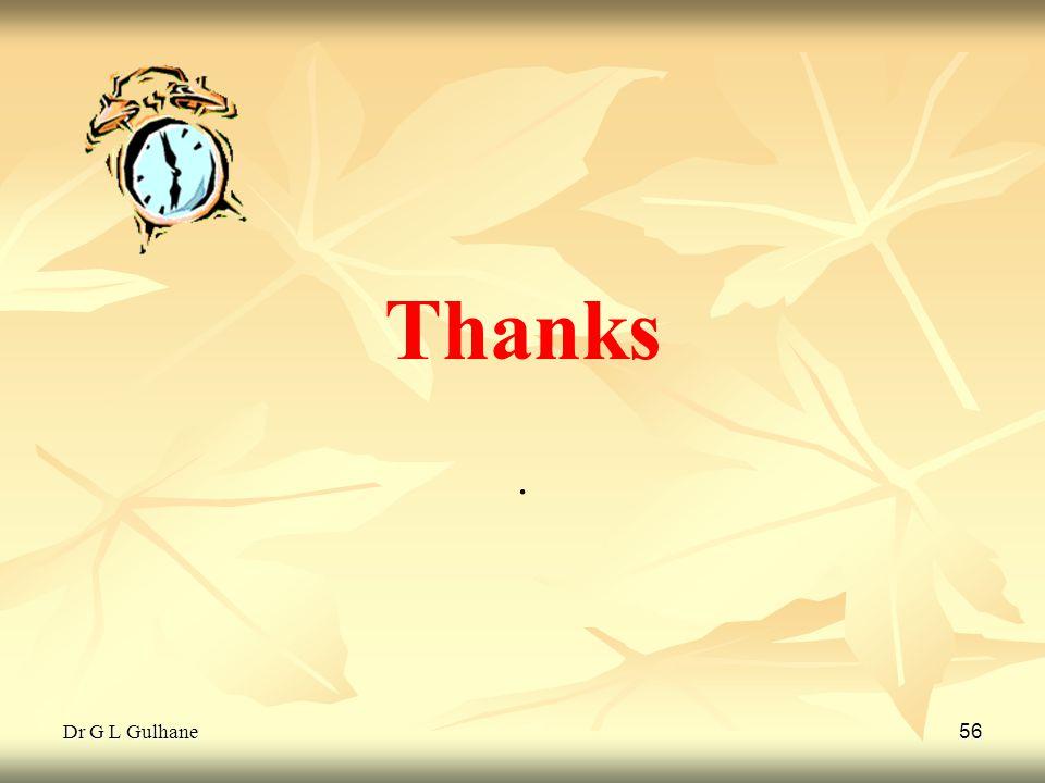 Thanks . Dr G L Gulhane