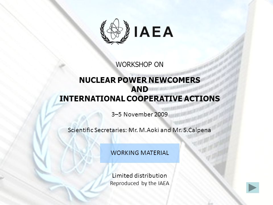 INTERNATIONAL COOPERATIVE ACTIONS