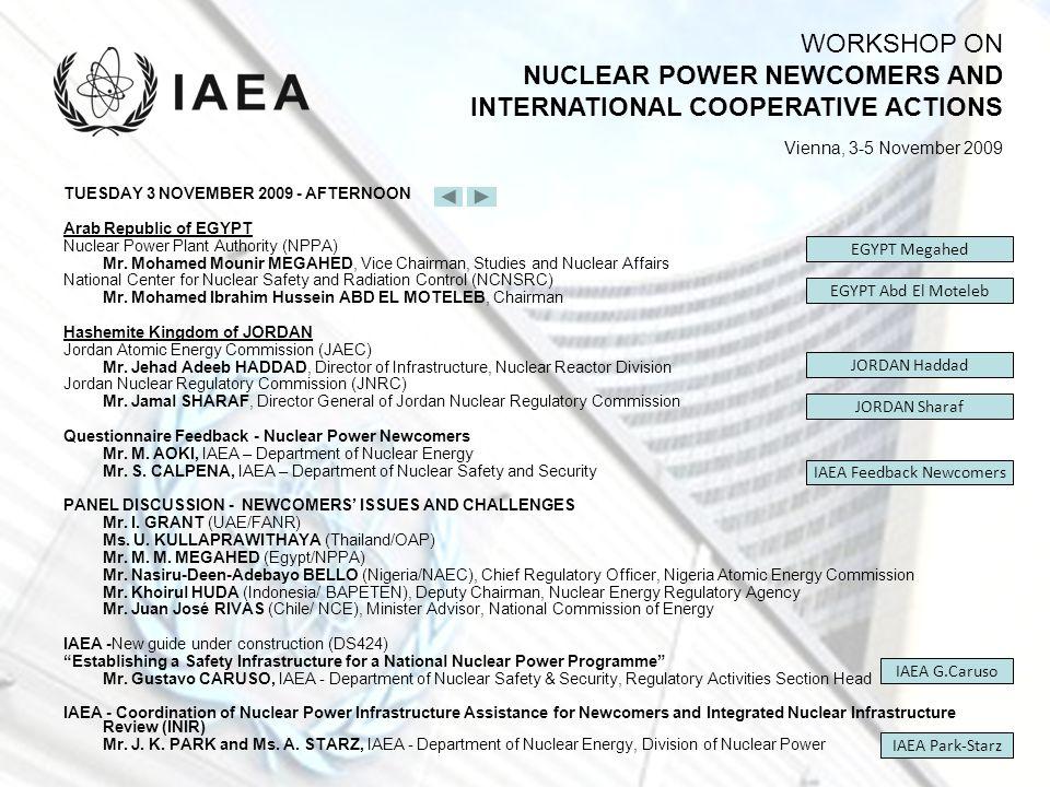 IAEA Feedback Newcomers