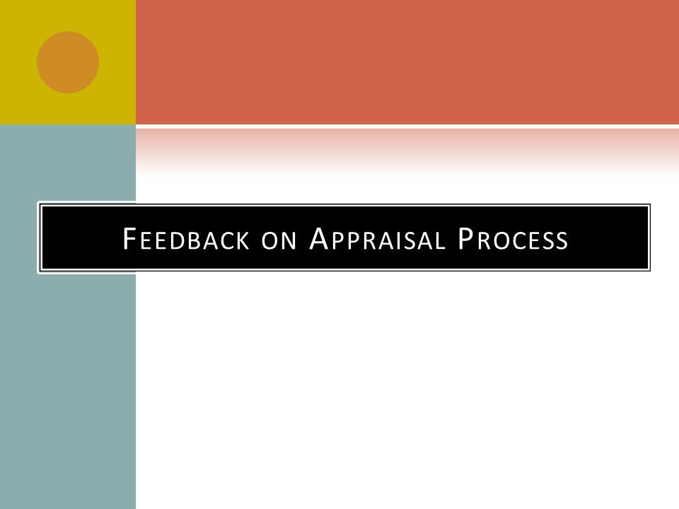 Feedback on Appraisal Process