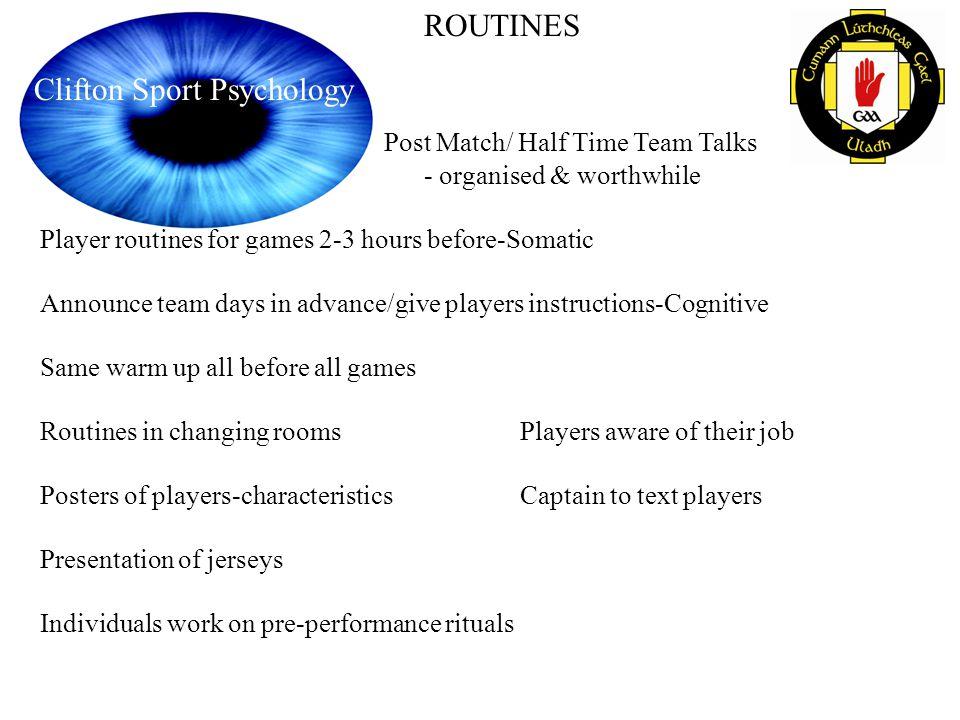 Post Match/ Half Time Team Talks - organised & worthwhile