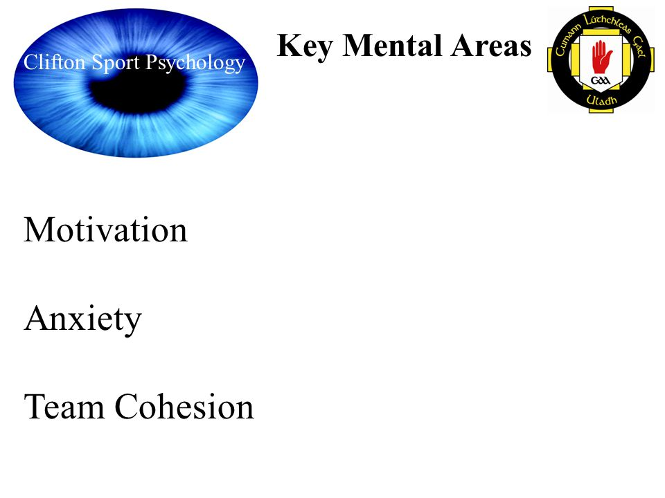 Motivation Anxiety Team Cohesion Key Mental Areas
