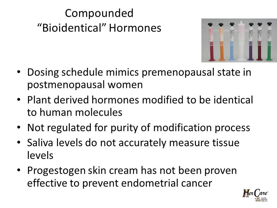 Compounded Bioidentical Hormones