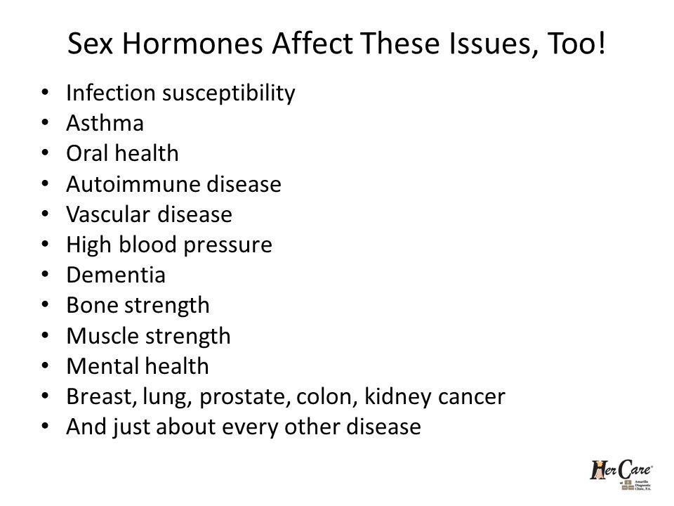 Sex Hormones Affect These Issues, Too!