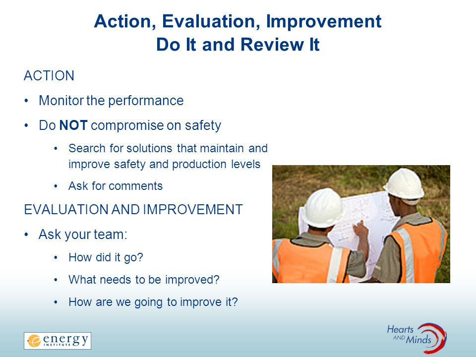 Action, Evaluation, Improvement Do It and Review It