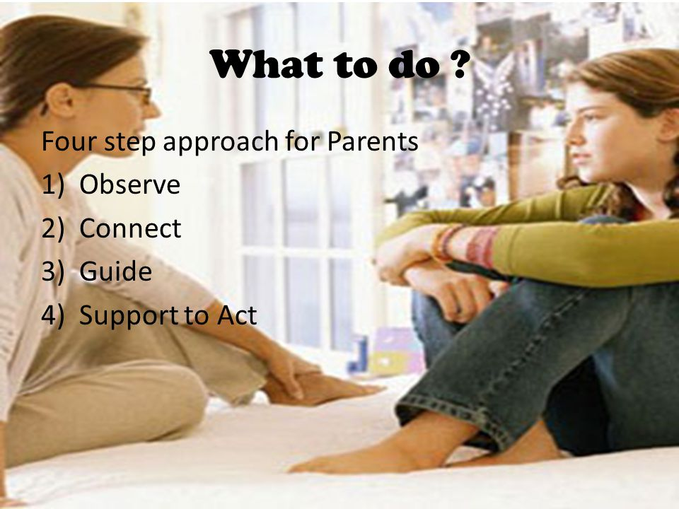 What to do Four step approach for Parents Observe Connect Guide