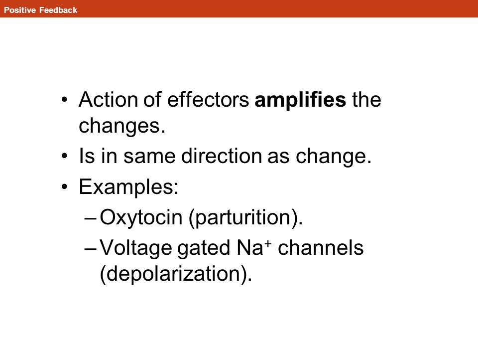Action of effectors amplifies the changes.