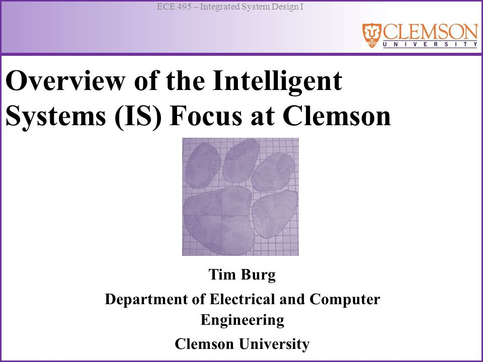 Overview of the Intelligent Systems (IS) Focus at Clemson