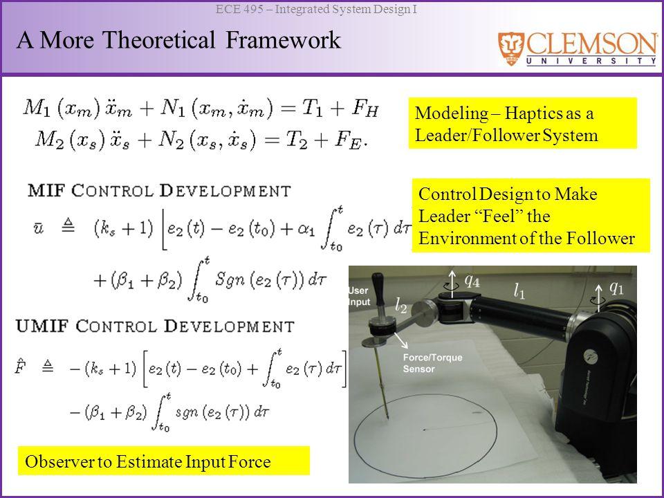 A More Theoretical Framework