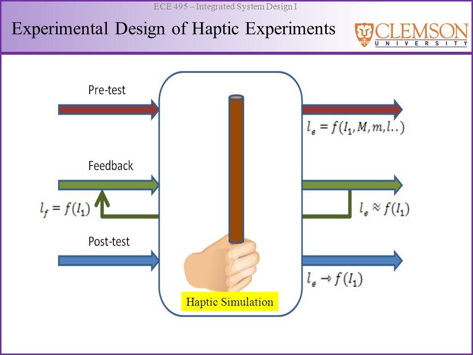 Experimental Design of Haptic Experiments