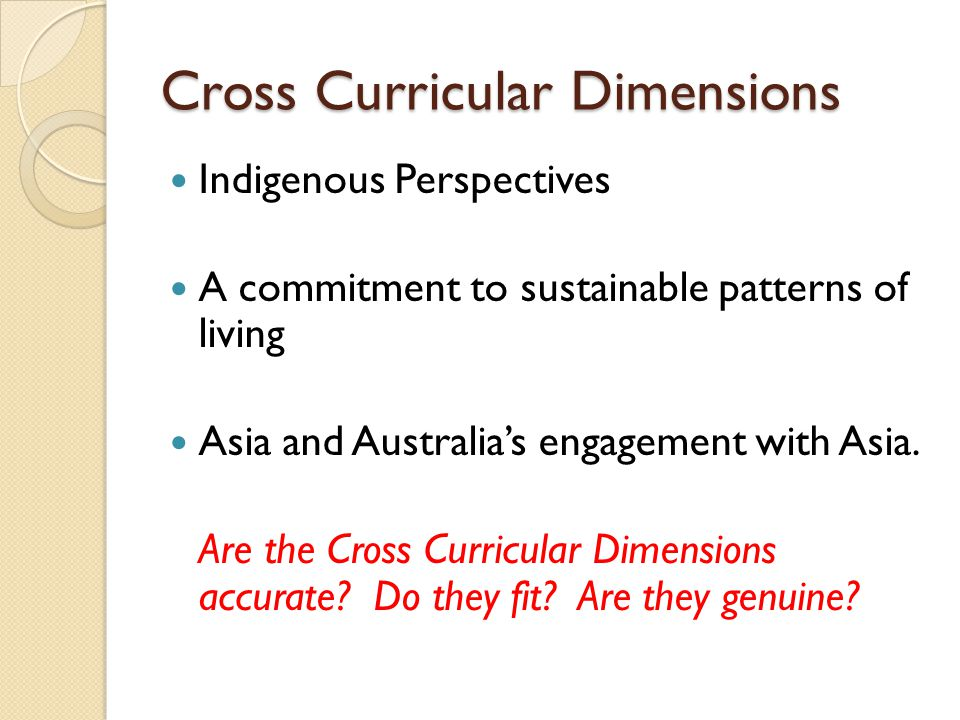 Cross Curricular Dimensions