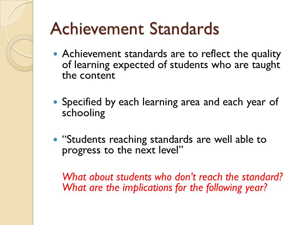 Achievement Standards