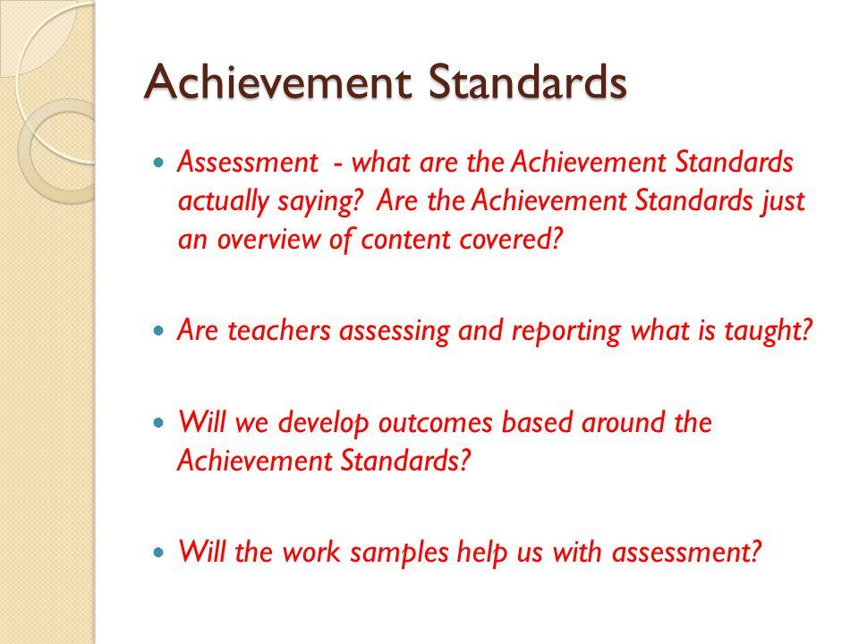 Achievement Standards