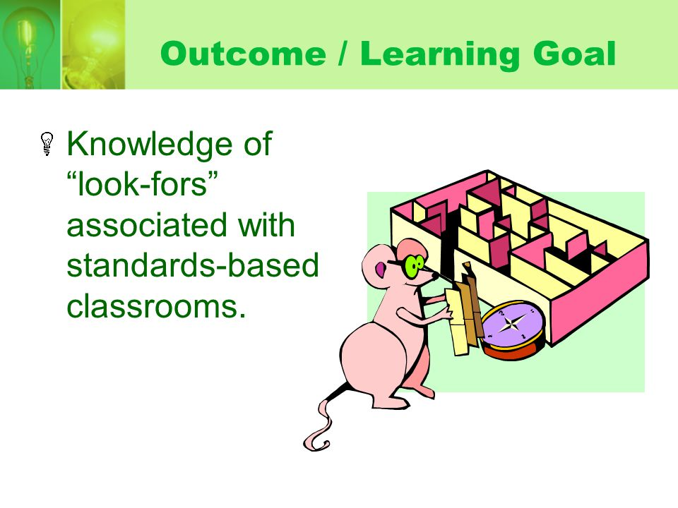 Outcome / Learning Goal