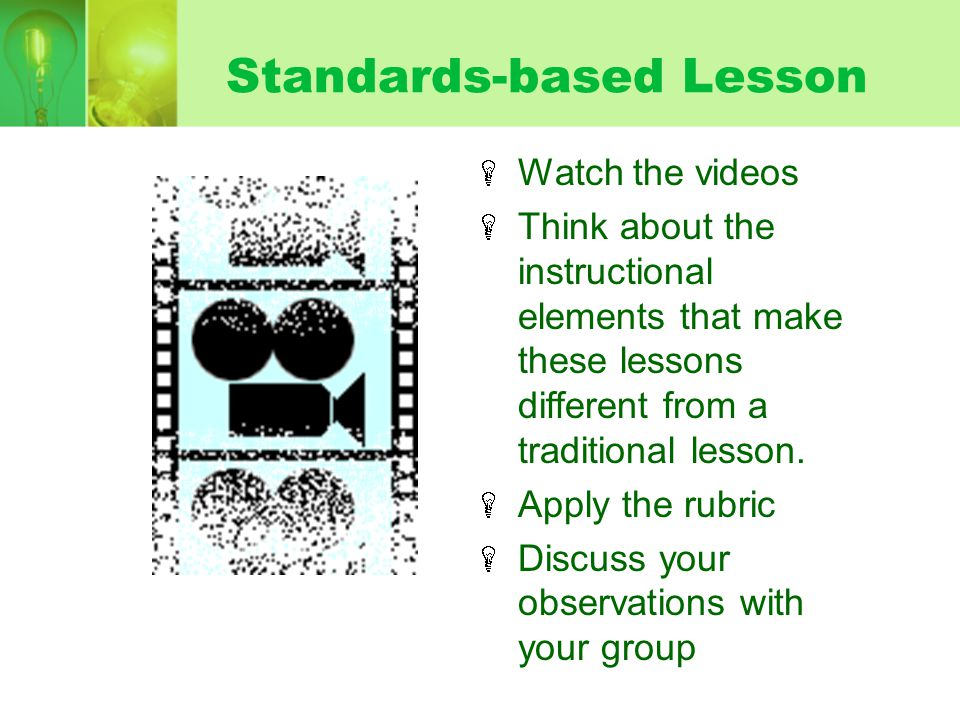 Standards-based Lesson